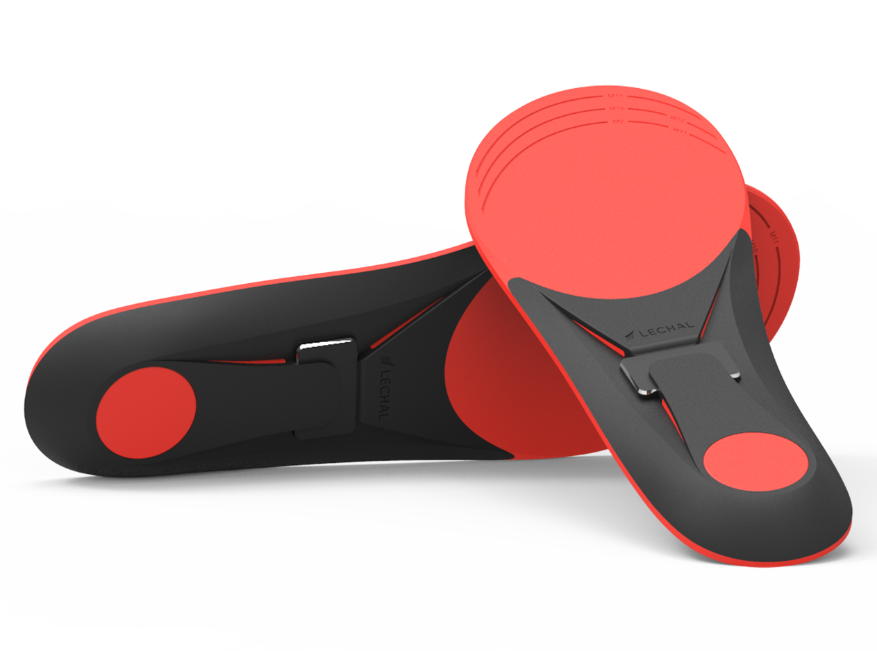 Insoles with vibrating pods for navigation.